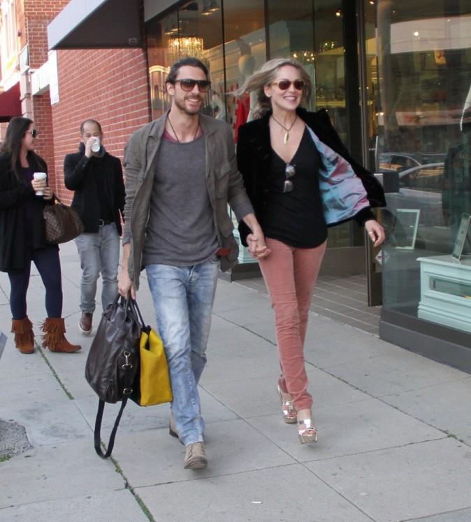 Sharon Stone et Martin Mica à Beverly Hills le 30 janvier 2013