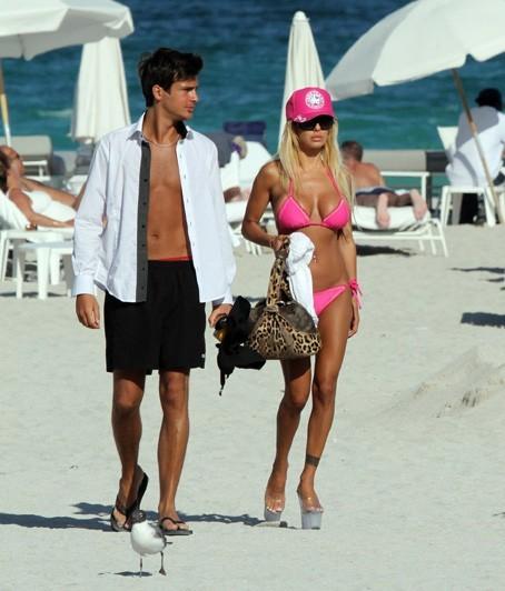 Effet Barbie assuré ! En avril 2010, à Miami Beach.