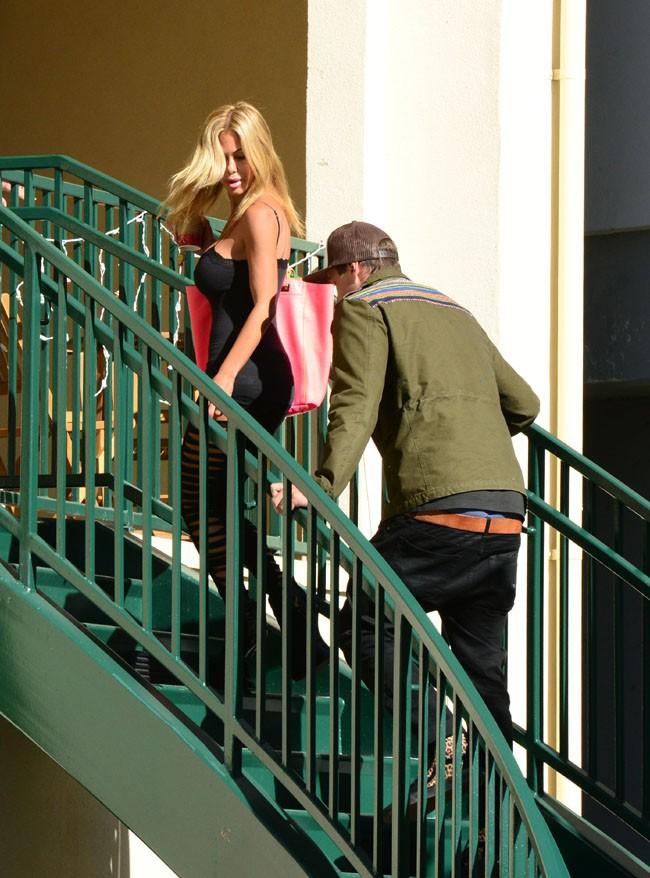 Shauna Sand de sortie à Beverly Hills avec son nouveau toy boy le 10 décembre 2013