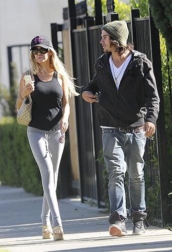 Shauna Sand et son boyfriend à Los Angeles le 18 avril 2013