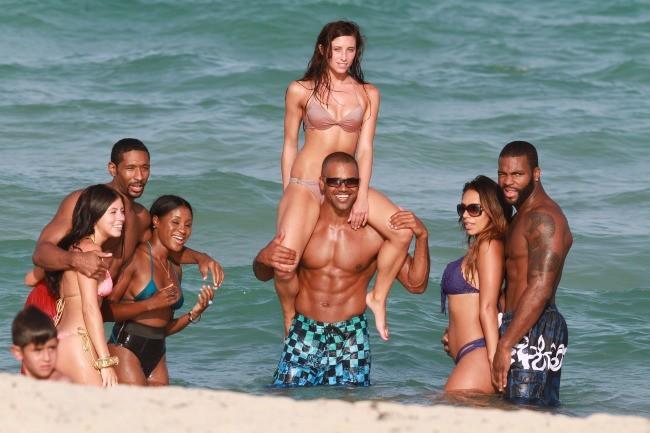 Shemar Moore en vacances à Miami, le 3 juillet 2012.