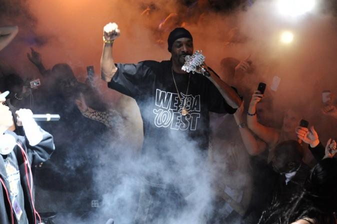 Snoop Dogg en showcase au VIP Room Theater à Paris, le 5 octobre 2011.