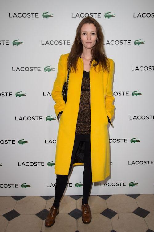Audrey Marnay à la soirée Lacoste à Paris, le 22 janvier 2014