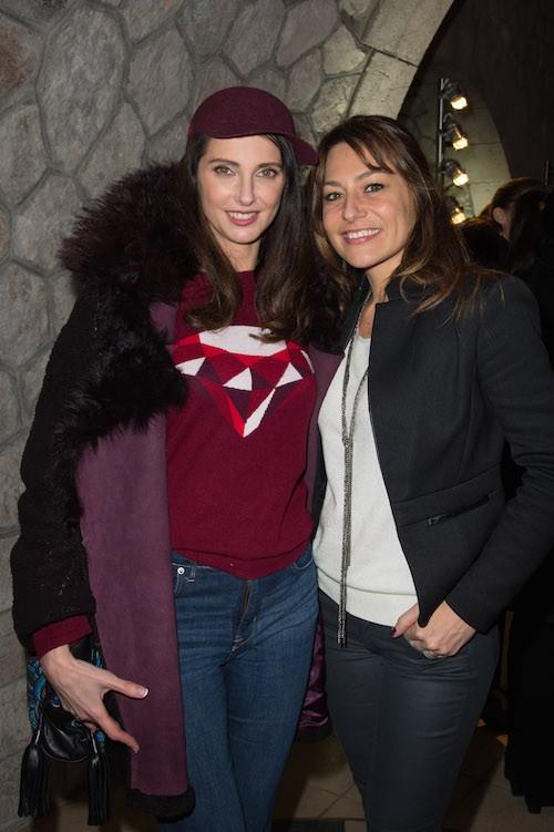 Frédérique Bel et Shirley Bousquet à la soirée Lacoste à Paris, le 22 janvier 2014