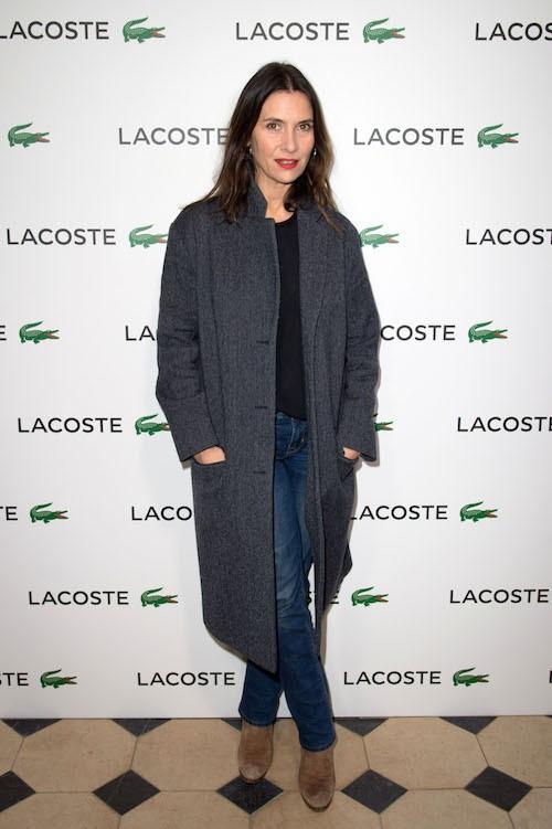 Géraldine Pailhas à la soirée Lacoste à Paris, le 22 janvier 2014