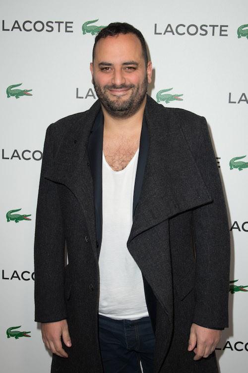 Jérôme Commandeur à la soirée Lacoste à Paris, le 22 janvier 2014