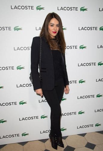 Sofia Essaïdi à la soirée Lacoste à Paris, le 22 janvier 2014