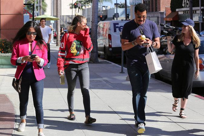 Sofia et Lionel Richie à Los Angeles le 2 septembre 2016