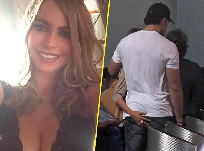 Photos : Sofia Vergara : instant mains baladeuses… Plutôt musclé le fessier de Joe Manganiello ?