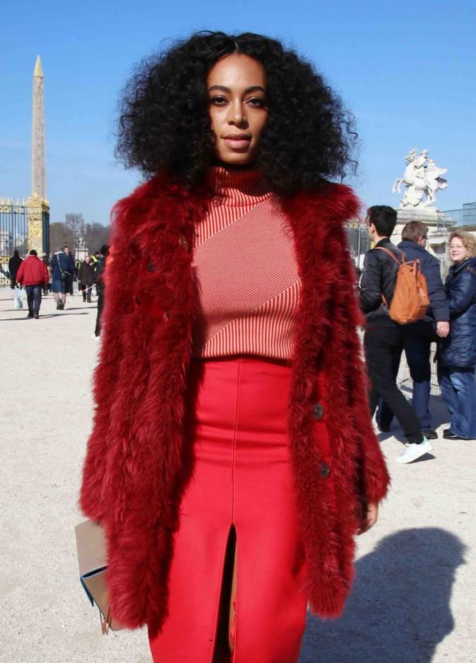 Solange Knowles : apr�s la blancheur ang�lique, place au rouge d�moniaque !