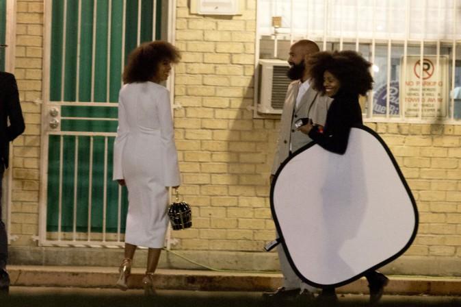 Photos : Solange Knowles : chic en blanc pour les festivités d'avant-mariage, Beyoncé débarque sans Jay-Z !
