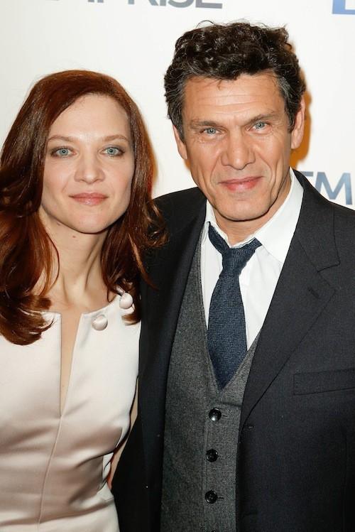 Marc Lavoine et Odile Vuillemin lors de la projection de l'Emprise, le 21 janvier 2015