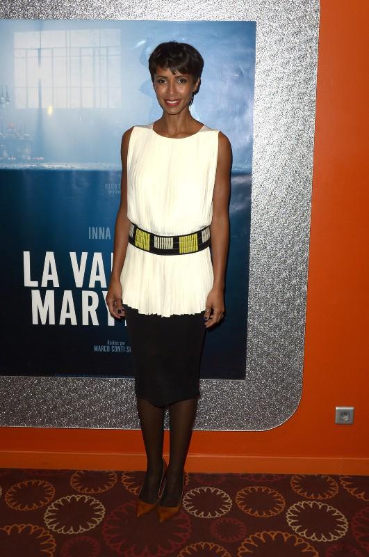 """Sonia Rolland lors de la projection du court-métrage """"La Valse de Marylore"""" à Paris, le 6 mars 2014."""