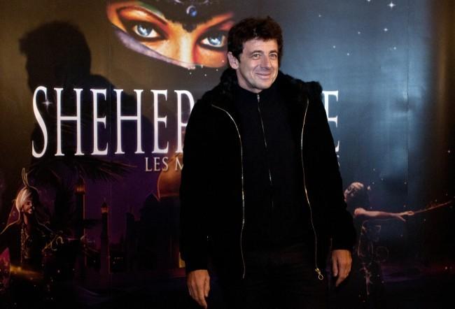 Patrick Bruel lors de la première de Shéhérazade - Les Mille et une Nuits, le 6 décembre à Paris.