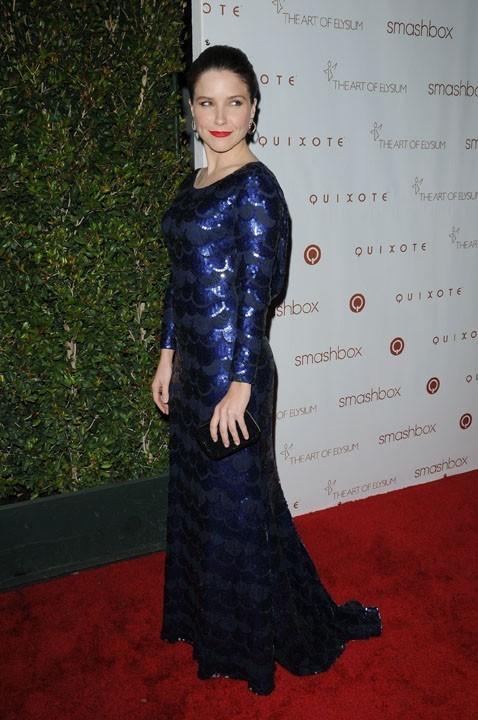 Sophia Bush : elle traîne sa longue robe à sequins à toutes les soirées !