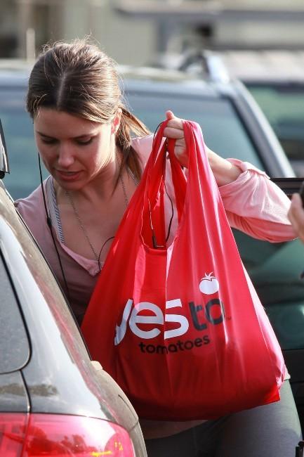 Sophia Bush en plein shopping à Hollywood, le 28 février 2012.