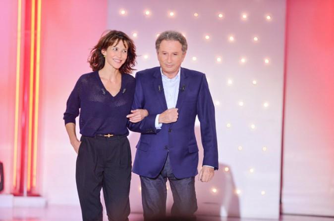 """Sophie Marceau à l'enregistrement de """"Vivement dimanche"""" le 17 septembre 2014"""