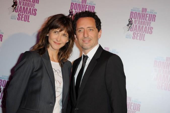 Gad Elmaleh et Sophie Marceau à l'avant-première parisienne d'Un bonheur n'arrive jamais seul