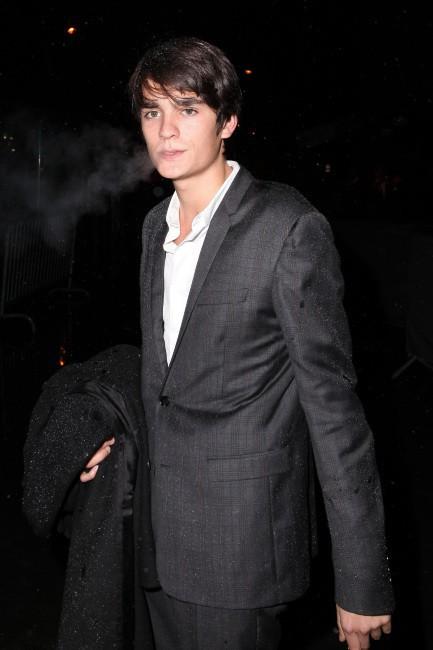 Alain-Fabien Delon à Paris pour la soirée Dior, le 12 novembre 2013.