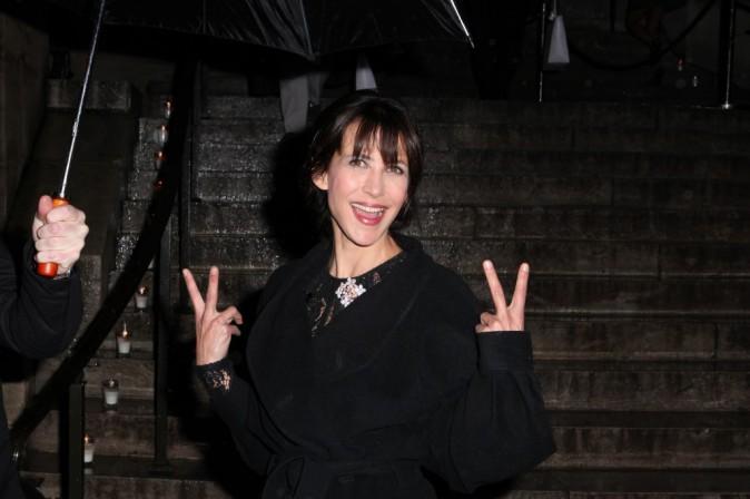 Sophie Marceau à Paris pour la soirée Dior, le 12 novembre 2013.
