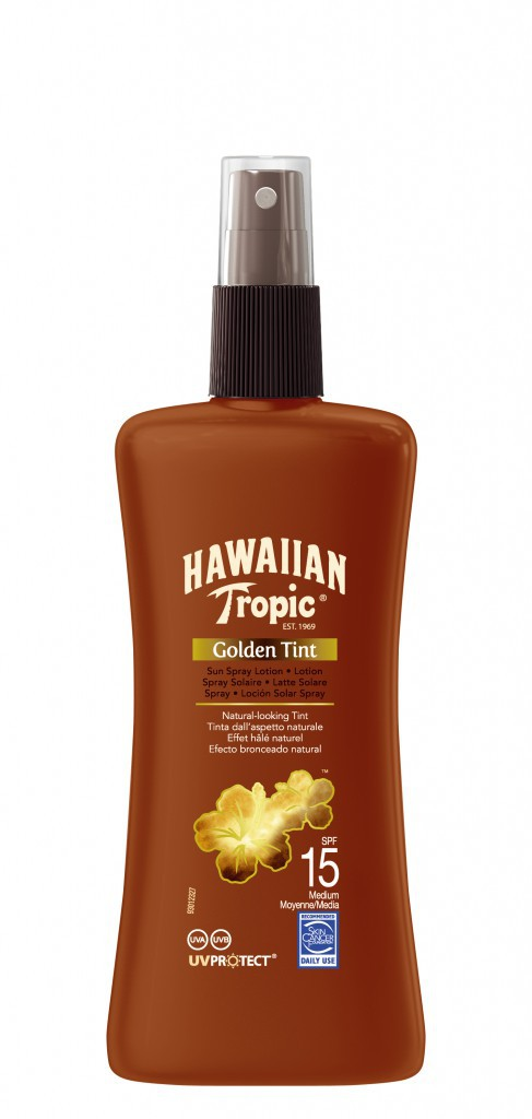 Le Sun Spray Golden Tint de chez Hawaiin Tropic (à trouver ici)