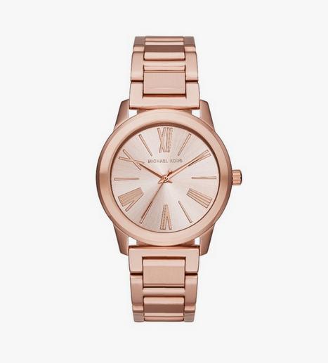 Une montre en or rose Michael Kors