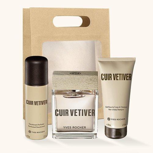 Le coffret Cuir Vétiver - Yves Rocher