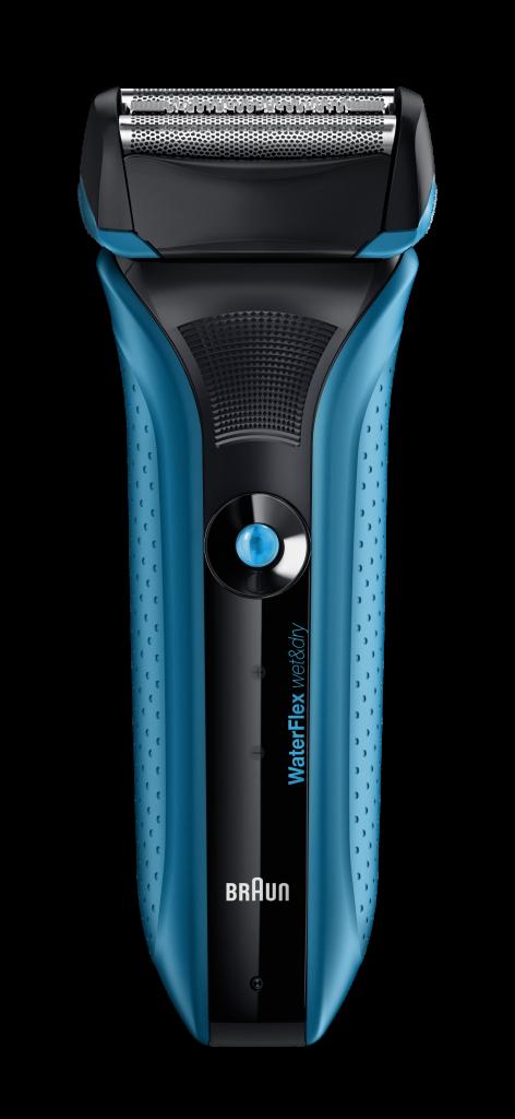 Un rasoir électrique Waterflex de Braun