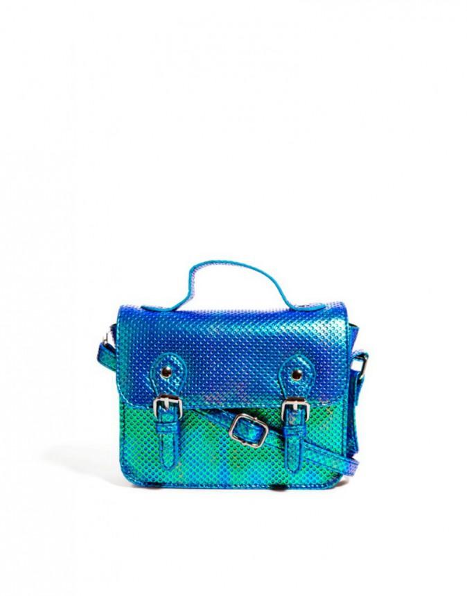 cartableu bleu métallique, Asos 23€