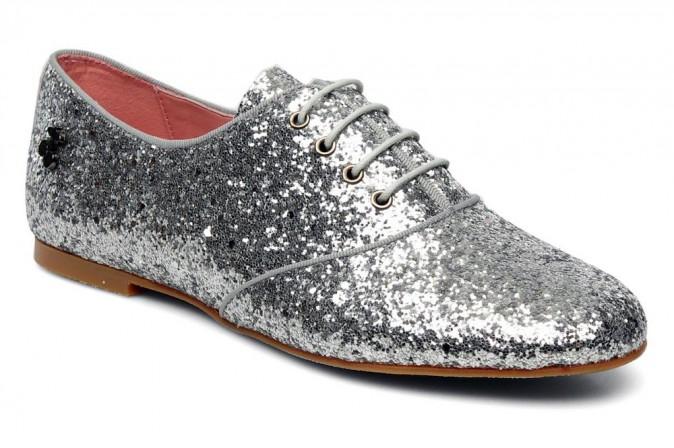 Chaussures glitter à lacets, Edin, Le Temps des cerises 89,90€