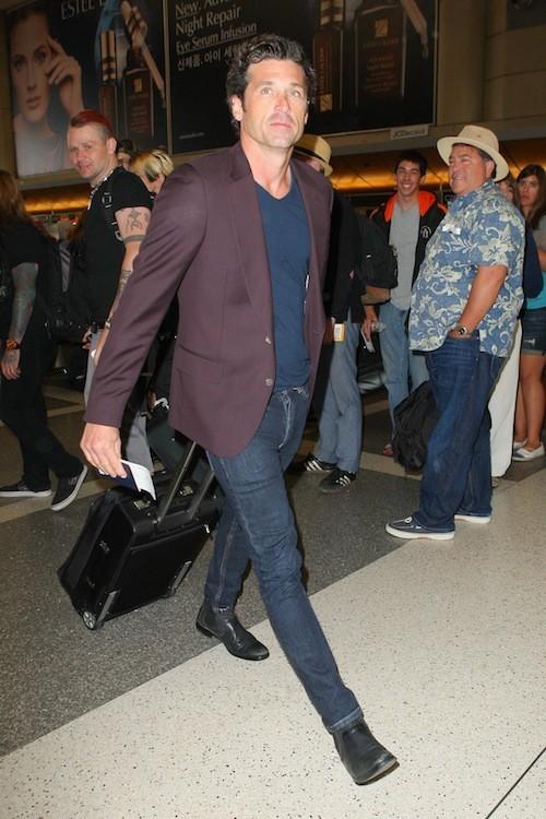 Patrick Dempsey à l'aéroport de LAX