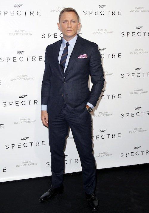 Daniel Craig à la première de Spectre à Paris, le 29 octobre 2015