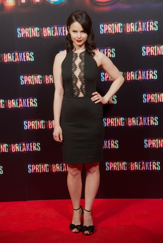 Rachel Korine lors de la première de Spring Breakers à Madrid, le 21 février 2013.