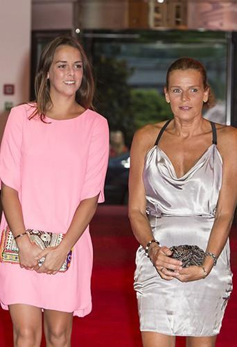 Pauline Ducruet et Stéphanie de Monaco à Monte-Carlo le 25 juillet 2014