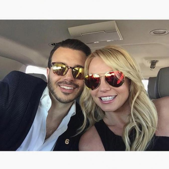 Britney Spears avec Charlie Ebersol à Phoenix le 1er février 2015