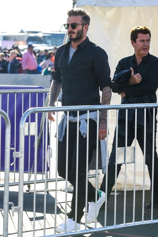 David Beckham à Phoenix le 1er février 2015