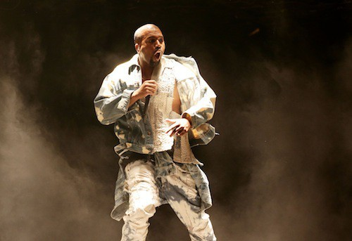 Kanye West au festival de Glastonbury à Londres, le 27 juin 2015