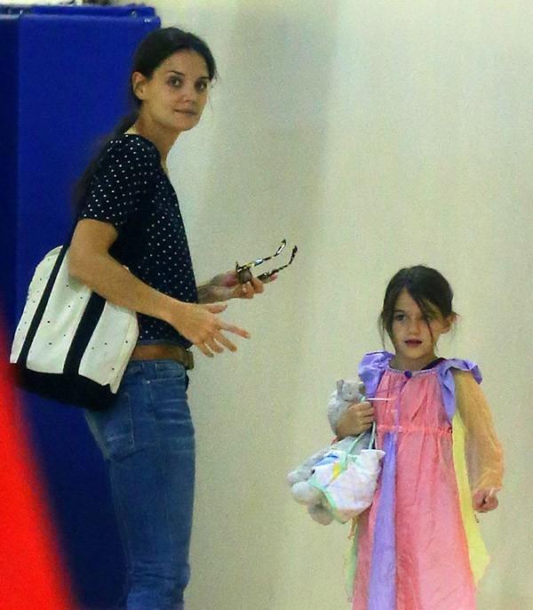 Katie Holmes et Suri Cruise à New-York le 21 août 2012
