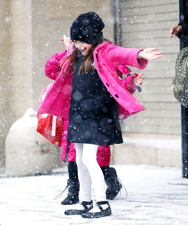 Suri Cruise à New-York le 21 janvier 2014