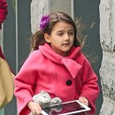 Suri Cruise et Katie Holmes à New-York le 20 avril 2013