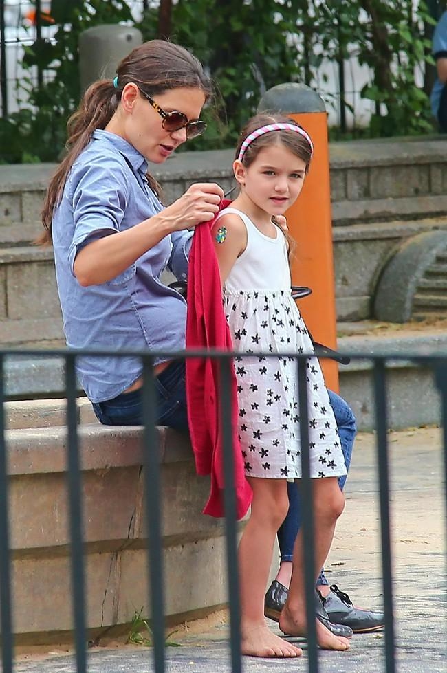 Katie Holmes et Suri Cruise le 3 septembre à New York