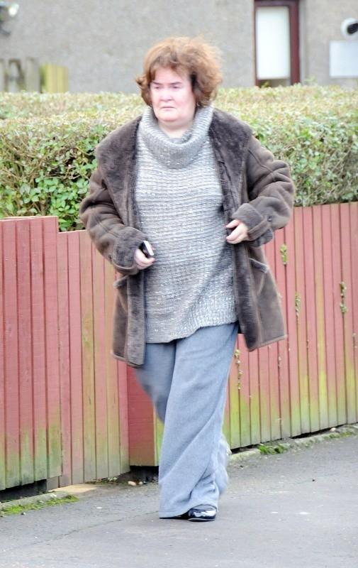Susan Boyle, Glasgow, 31 décembre 2012.