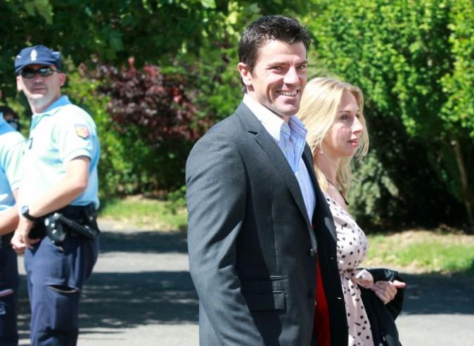 Grégory Coupet lors du mariage de Sydney Govou et sa compagne Clémence Catherin, le 18 juin 2011 à Replonges.