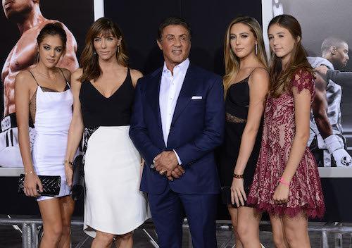 Photos : Sylvester Stallone : en famille avec ses bombes de filles pour la première de Creed