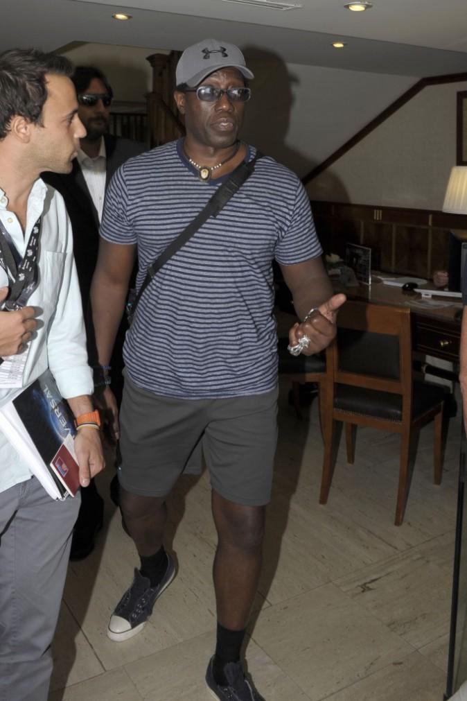 """Wesley Snipes arrive à Marbella pour la promo d'""""Expandables 3"""", le 5 août"""