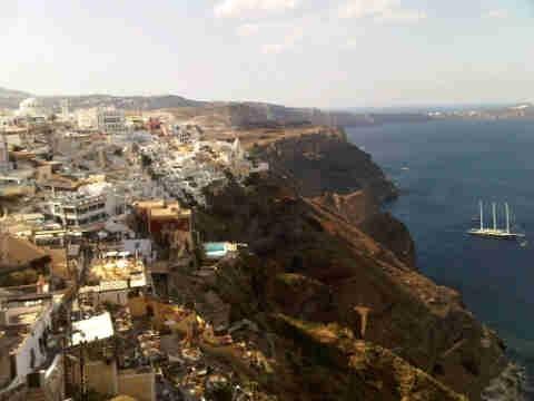 L'île de Santorini en Grèce ...