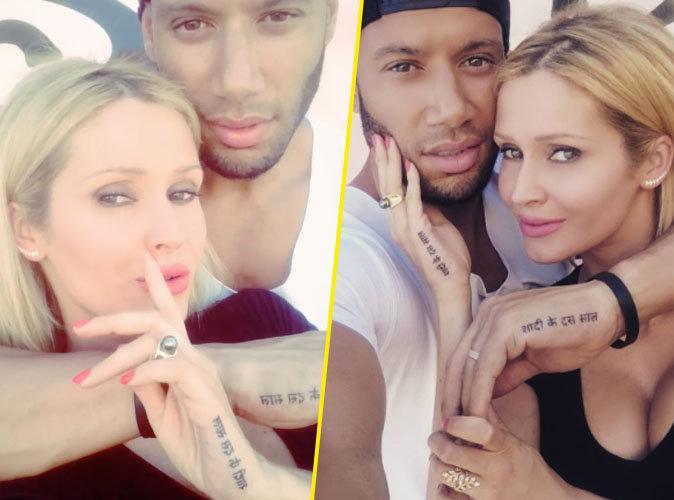 Tatiana Laurens et Xavier Delarue se font tatouer pour leurs 10 ans de mariage