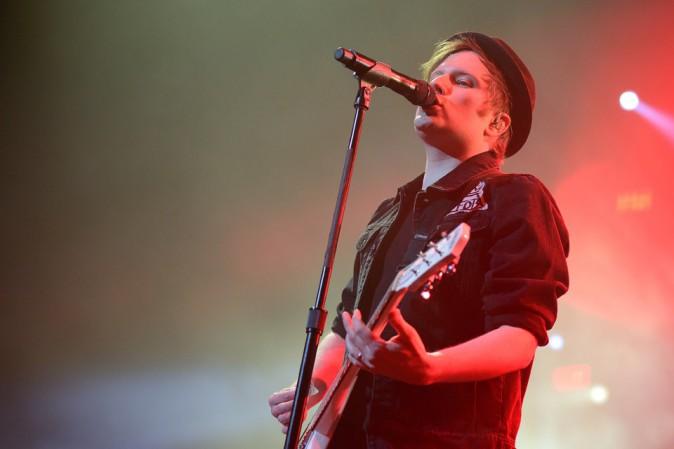 Patrick Stump des Fall Out Boy, qui ont succédé aux Pretty Reckless au Zénith de Paris le 12 mars 2014