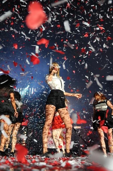 Taylor Swift lors du Capital FM's Summertime Ball à Londres, le 9 juin 2013.