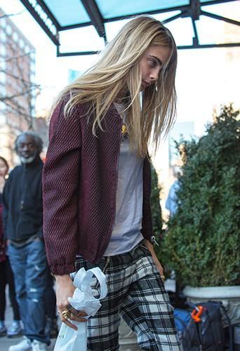 Cara Delevingne à New York le 9 avril 2014